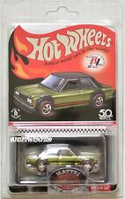 HOT WHEELS 2018 RLC DATSUN BLUEBIRD 510 W/ BUTTON & PATCH W+