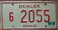 Ohio DEALER License Plate Specialized From Late 1970's Vintage Expired Used