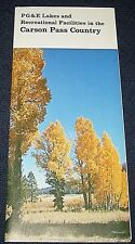 Vintage 1970s Pacific Gas & Electric Carson Pass Country California Brochure