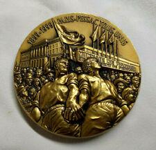 Médaille CGT Monnaie de Paris 1899-1999 PARIS PESSAC TOUS UNIS bronze GENDIS