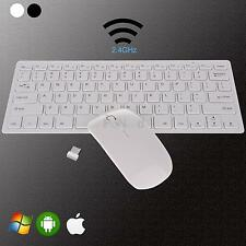 1 Set Wireless White 2.4G Optical Keyboard and Mouse USB Receiver Kit For PC