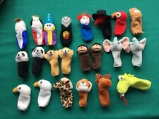 Mixed Lot of 22 Animal And Other Finger Toy Puppets