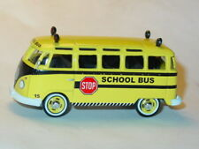 1964 64 VOLKSWAGEN VW SAMBA SCHOOL BUS COLLECTIBLE DIECAST TOY CAR Yellow, LOOSE