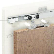 binario per porta scorrevole 155cm +accessori 40 kg +squadrette fissaggio a muro