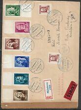 Slovakia, Registered, express letter to Bohemia 1944