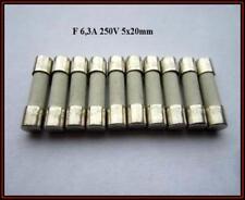SP Sicherung Ceramic F 6,3A 250V Flink 5x20mm Feinsicherung Fuse 10 Stück