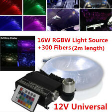 300Pc DC12V 16W Car LED Ceiling Light Fiber Optic Star with 24key Remote control