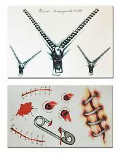 Halloween Zombie Bullet Holes Zip Scars Water Transfer Temporary Tattoos