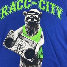 Cool Vtg *RARE* Racc-City Raccoon w/ Boombox Funny Graphic T-Shirt,*missing tag*