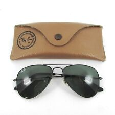 RAY BAN SMALL BLACK BAUSCH & LOMB AVIATOR 52mm SUNGLASSES OCCHIALI LUNETTES 80s