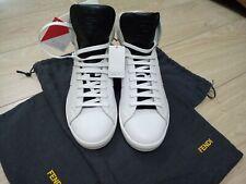 Fendi men's high leather sneakers in white UK 6