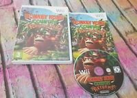 Donkey Kong Country Returns Complete Nintendo Wii Game & Manual Free P&P