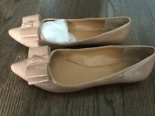 J Crew Emery Patent Nude Ballet Bow Flat 8 new