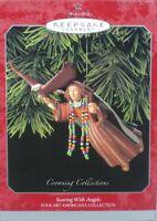 Hallmark Keepsake Ornament 1998 Soaring With Angels ~Folk Art Americana - NIB