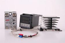 Rex C100 Rkc Pid Temperature Controller 220v 40a Ssr K Thermocouple Wj