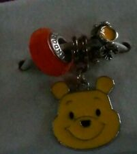 AUTHENTIC PANDORA BEAD STERLING W/Winnie the Pooh CHARM W/Spacer SET LOT O0016