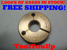 """1"""" 18 NS THREAD RING GAGE 1.00 GO ONLY P.D. = .9639 TOOLING TOOL QUALITY TOOLS"""
