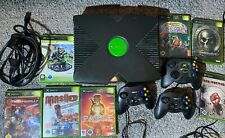 Xbox Classic Konsole Set, 7 Spiele, 3 Controller, Kabel, Halo, Fable, Mashed
