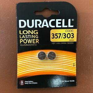 NEW Duracell Silver Oxide 1.5V Watch Batteries ALL SIZES 357 386 377 364 399 371