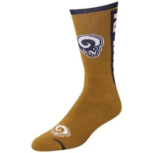 St Louis Rams Men's Crew Socks Large Size 10 to 13 Jump Key