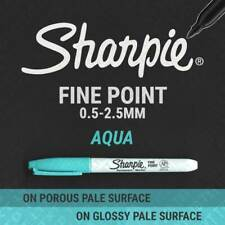 1, 3, 6, 12 or 24 AQUA Sharpie Fine Point Permanent Markers