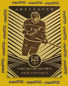 Anze Kopitar, Los Angeles Kings, 2019, Artifacts Hockey, AURUM, #A-8