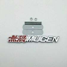 Red&Chrome Metal 3D MUGEN Logo Front Grille Badge Sport Power Car Grill Emblem