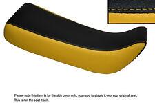 Negro Y Amarillo personalizado se adapta a Honda Xr 100 R 85-97 Doble Cuero Funda De Asiento