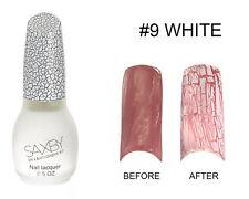 White Crack Nail Crackle Shatter Pattern Polish Fashion Color