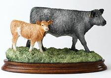 Border Fine Arts Classic Ray Ayres Blue Grey Cow with Cross Bred Calf B1648 Ltd