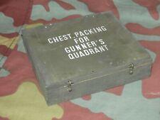 Cassetta militare americana goniometro artiglieria,WW2 US GUNNER'S QUADRANT box