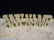 Wooden Words Free Standing Plaques Personalised Names Wedding Home Gift100mmtall
