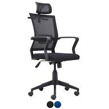 Silla de oficina giratoria, sillon escritorio despacho Azul o Negro, Winner
