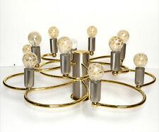 Space Age Lampe 70er Spirale Bicolor Silber Gold Cosack Leola Ära Ø 55 cm