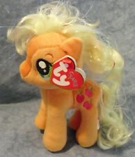 W-f-l Ty My Little Pony Selection 2 Different Sizes Horse Cloth Animal Plush Applejack Glitter 15 Cm With Apple