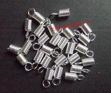 20pz coprinodo terminale 10X4,5mm nikel free colore argento