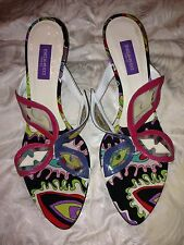 **NEW** EMILIO PUCCI Butterfly sandals mules slides size 38 8