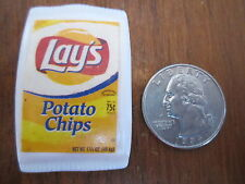 Barbie lot food LAYS Lay's Potato Chips Pretend Container Snack Chip Package bag