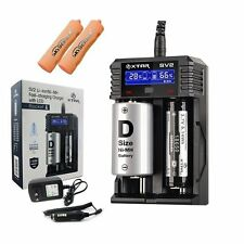 XTAR SV2 Fast-charging Battery Charger w/ LCD For 14500-32650 Li-ion Ni-MH