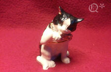 Bejeweled Trinket Box - Black & White CAT