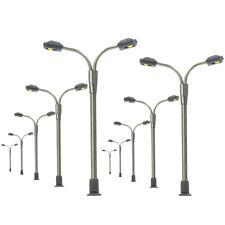 LQS14 10pcs Model Railway Z Scale Lamp Post Street Lights  LEDs Platform NEW
