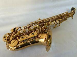 Professional Gold Soprano Saxophone Curved Saxophone