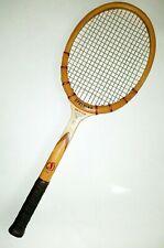 Spalding Davis Cup Vintage Wood Tennis Racquet 4.5 Smooth Made in Belgium.