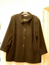 THE COAT MAN LUXURY DESIGNER WOOL/CASHMERE WOMEN'S BLACK COAT SZ 22 BRAND NEW