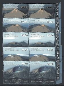 EL SALVADOR, 2020, VOLCANOES, 2 COMPLETE SETS, MNH