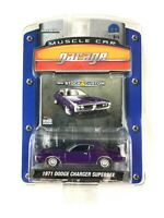 Greenlight Muscle Car Garage 1971 71 Dodge Charger Superbee Purple Die Cast 1/64