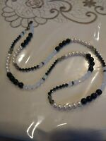 Swarovski Long Pearl/Faceted crystal beads Necklace 39""