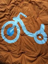 Room 365 First Trike Orange Blue Crib Blanket Comforter Quilt Tricycle
