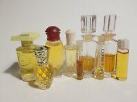 Lot of 9 Miniature Mini Perfume Madame Rochas Georgio Red Gucci Yria +More Scent