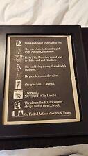 Ike And Tina Turner Rare Original Nutbush Promo Poster Ad Framed!